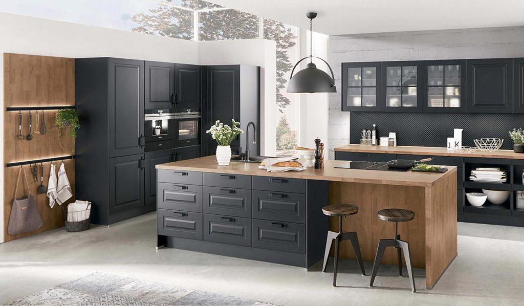 Cocina rústica Sylt negro